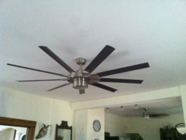 Ceiling fan installation and wiring