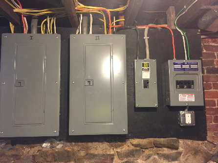 Electrical boxes in basement